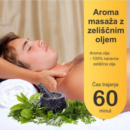 Aroma masaža z zeliščnimi olji - 60 minut