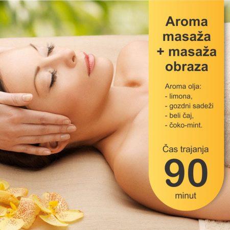 Aroma masaza z masazo obraza 90 minut