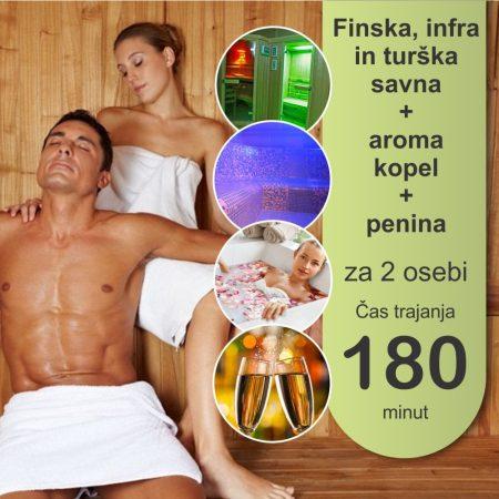 FIT savne - aroma kopel - 2 osebi - 180 minut - penina