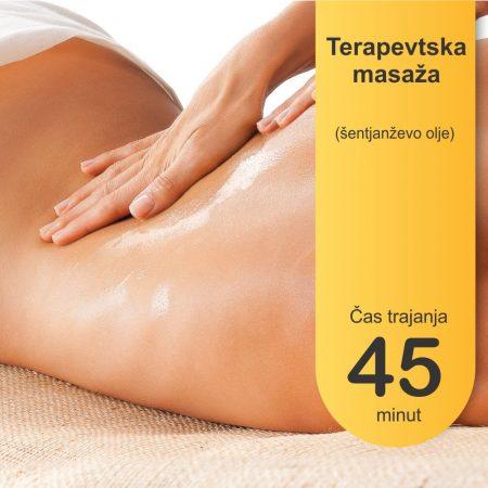 terapevtska masaža s šentjanževim olje , 45 minut