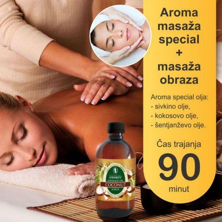 Aroma masaža special z masažo obraza - 90 minut